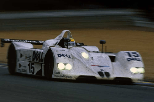 BMW on the Le Mans track