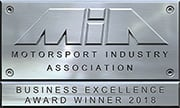 Motorsport Industry Association Business Excellence Award Winner 2018