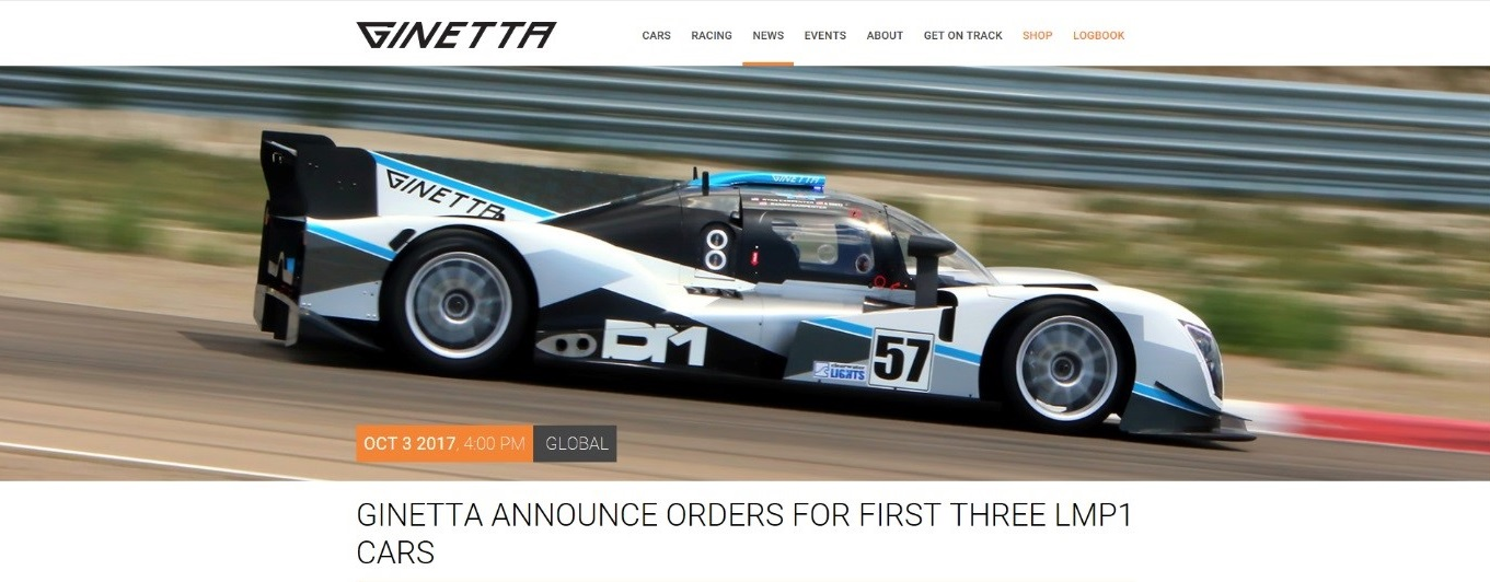 Ginetta Cars announces LMP1 Cars - Featured Image