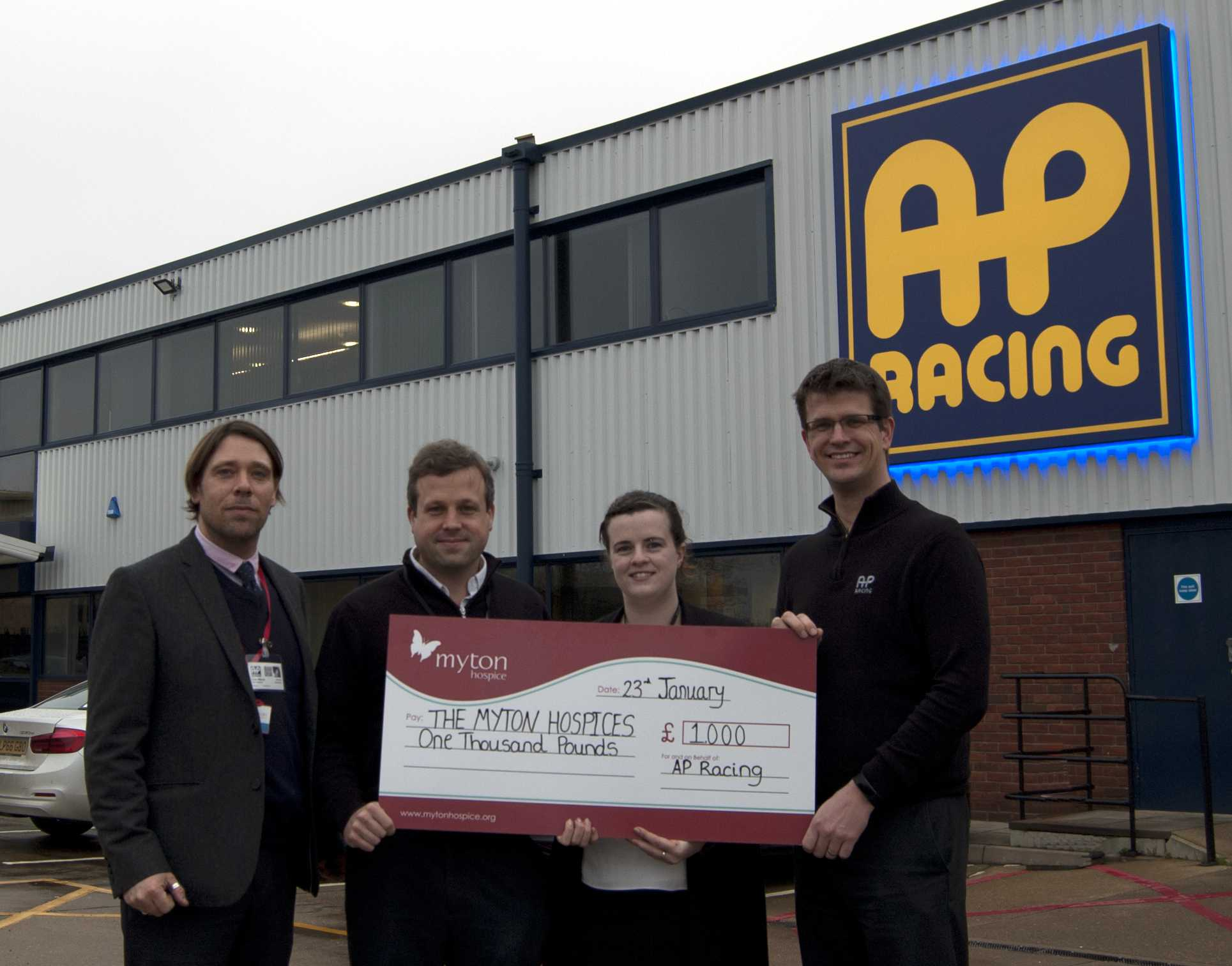 AP Racing supporting Myton Hospice - Featured Image